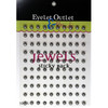 Our Brads Need Friends Collection Pearl Silver Self-Adhesive Pearls by Eyelet Outlet - 100 Pearls