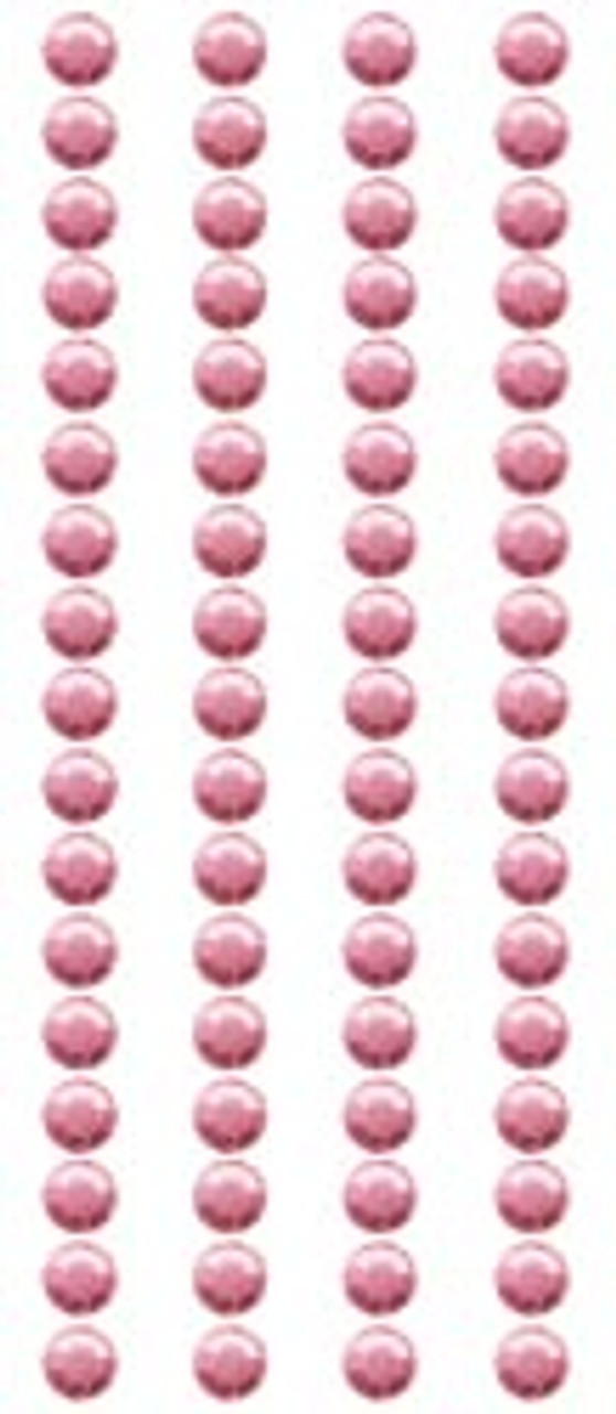 Bright Pink Small Round Crystal Stickers by Mark Richards USA