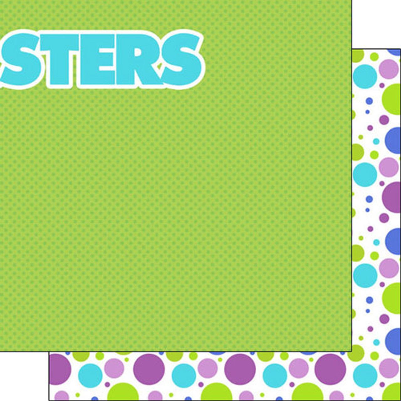 disneyana monsters collection monster right 12 x 12 double sided