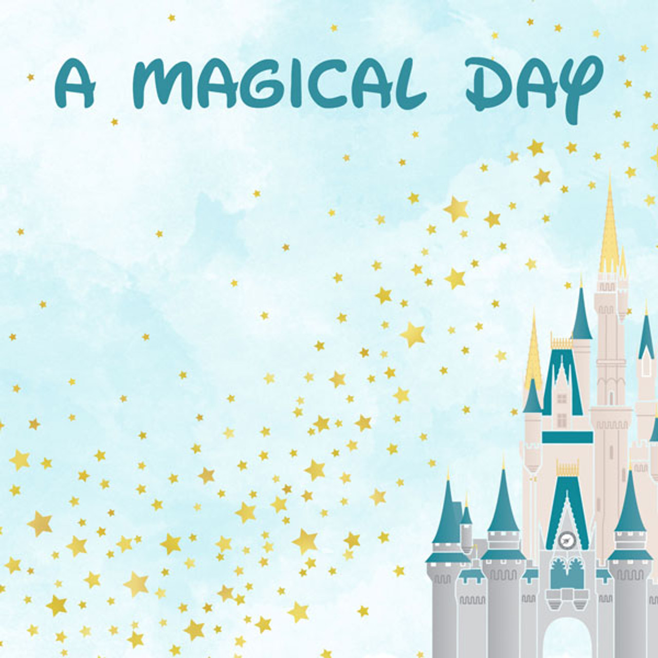 Magical Day of Fun Collection A Magical Day 12 x 12 Double-Sided Scrapbook Paper by Scrapbook Customs