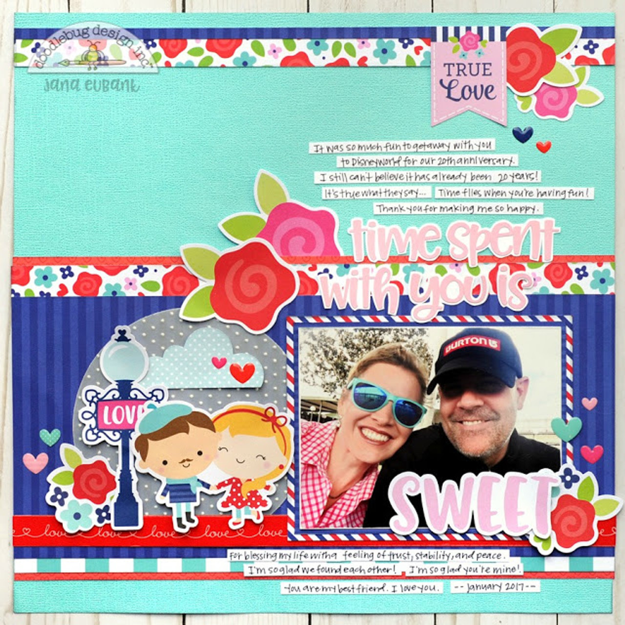 French Kiss Collection Passion For Plaid 12 x 12 Double-Sided Scrapbook Paper by Doodlebug Design