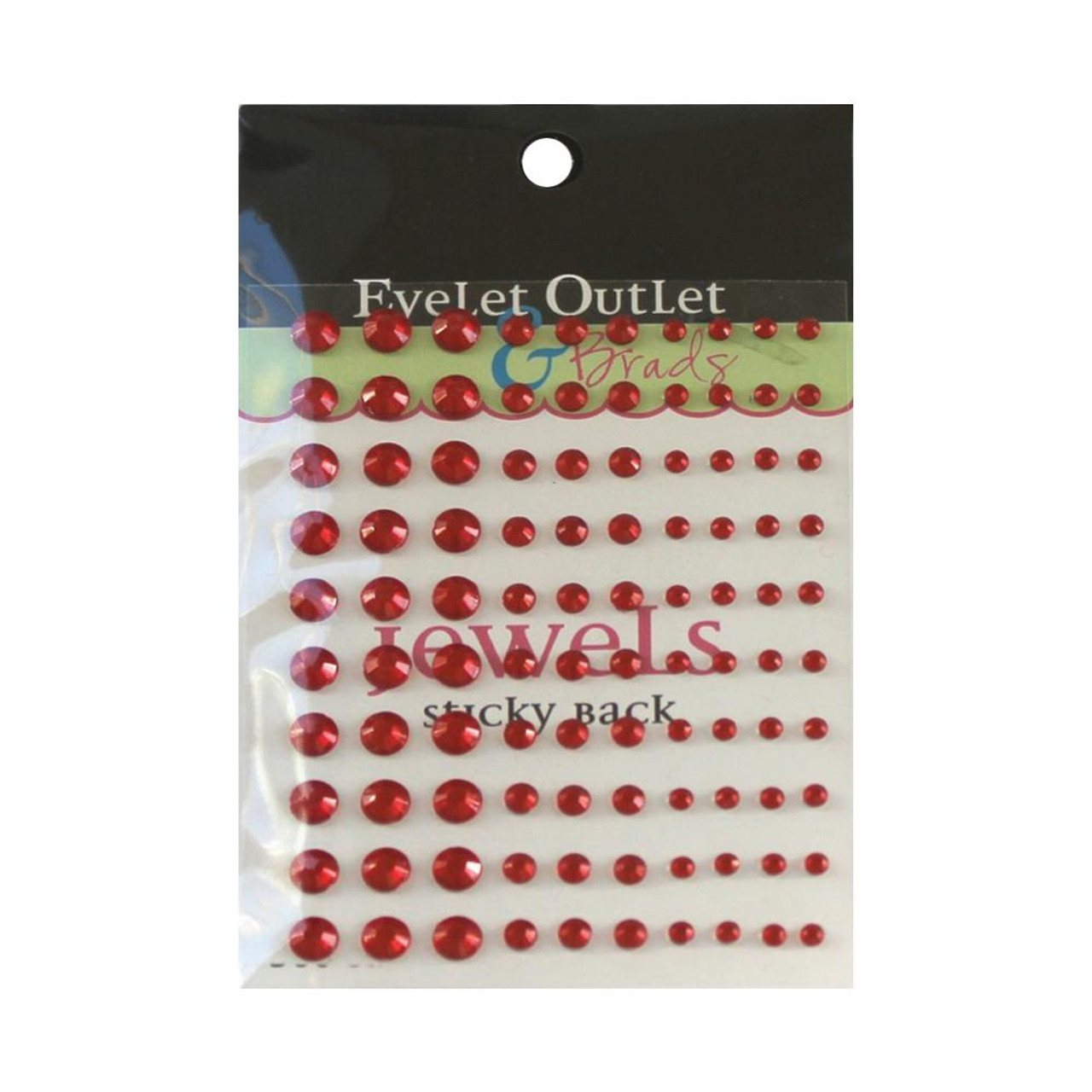 Our Brads Need Friends Collection Multi Red Self-Adhesive Jewels by Eyelet Outlet - 100 Jewels