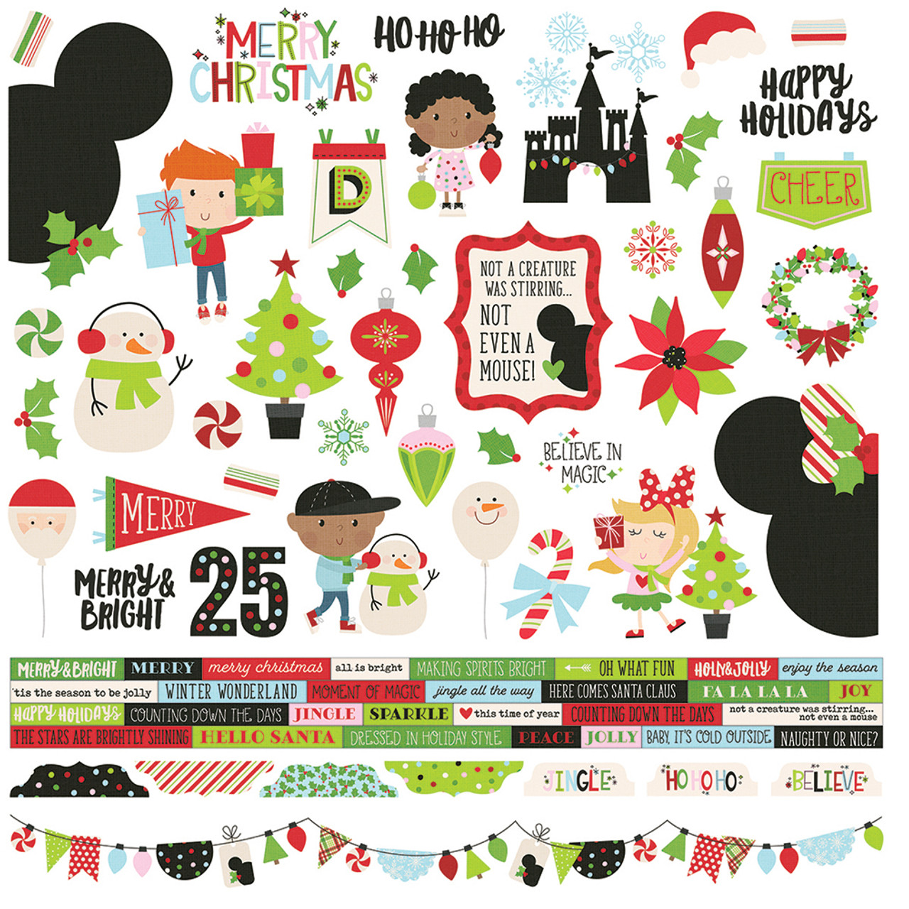 Creative Memories Winter Recreation Combination Pack Stickers//Die-Cuts//More