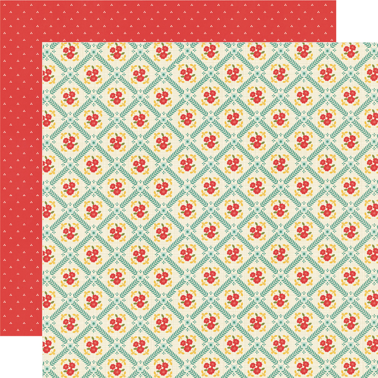 Apron Strings Collection What's for Dinner? 12 x 12 Double-Sided Scrapbook Paper by Simple Stories