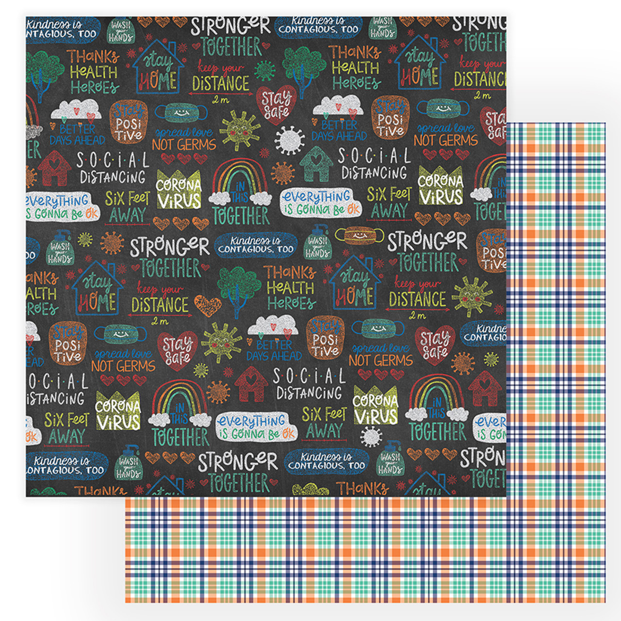 The New Normal Collection Sidewalk 12 x 12 Double-Sided Scrapbook Paper by Photo Play Paper