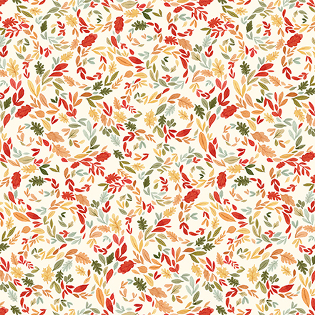 Hello Autumn Collection Swirly Leaves 12 x 12 Double-Sided Scrapbook Paper by Carta Bella