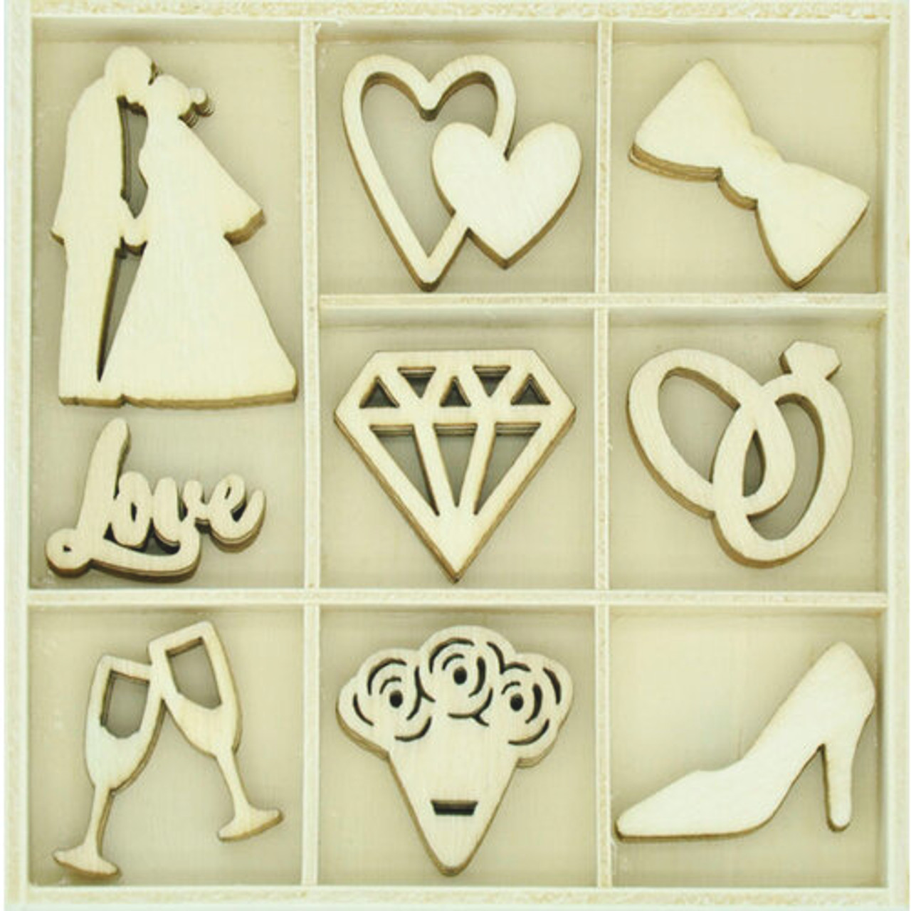 Forever & Always Collection Wooden Flourish Pack by Kaisercraft - 45 Pieces