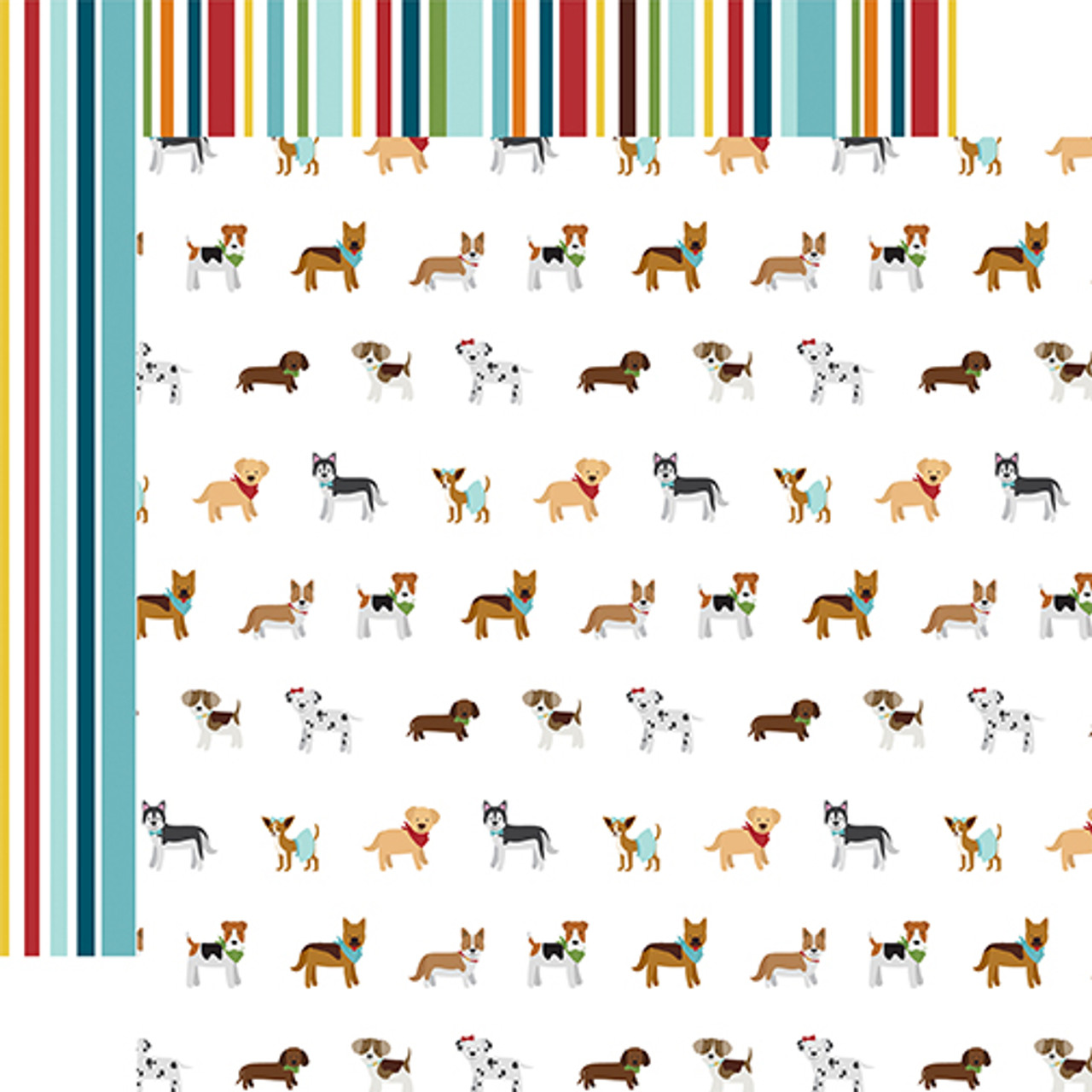 My Dog Collection Puppy Party 12 x 12 Double-Sided Scrapbook Paper by Echo Park Paper