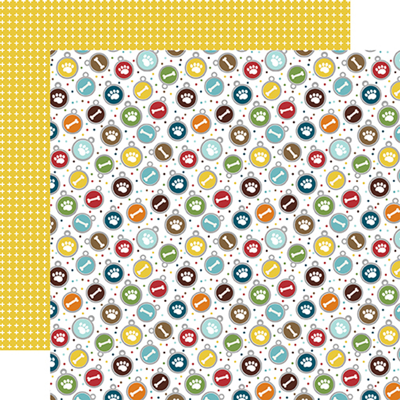 My Dog Collection Tag You're It 12 x 12 Double-Sided Scrapbook Paper by Echo Park Paper