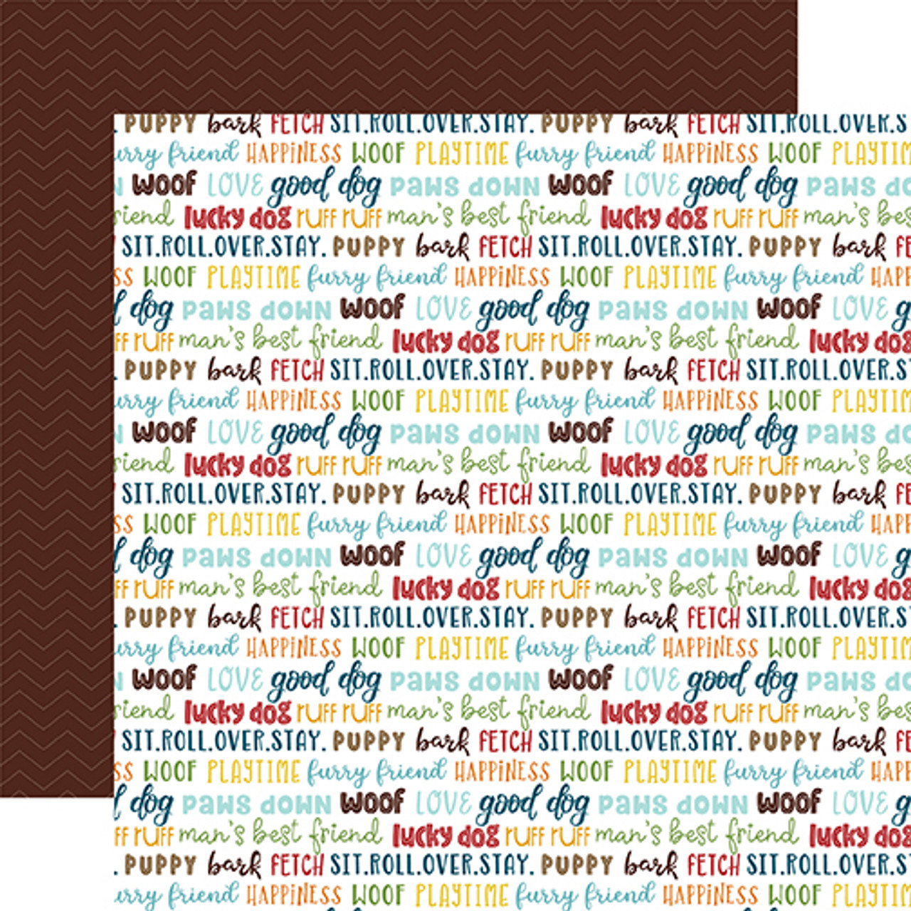 My Dog Collection Good Dog 12 x 12 Double-Sided Scrapbook Paper by Echo Park Paper