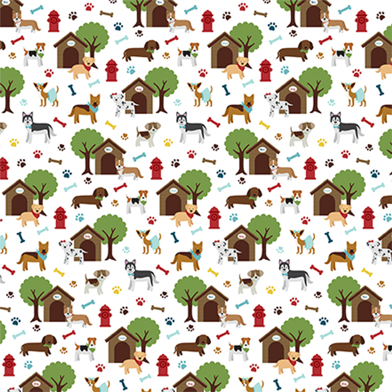 My Dog Collection Dog Days 12 x 12 Double-Sided Scrapbook Paper by Echo Park Paper