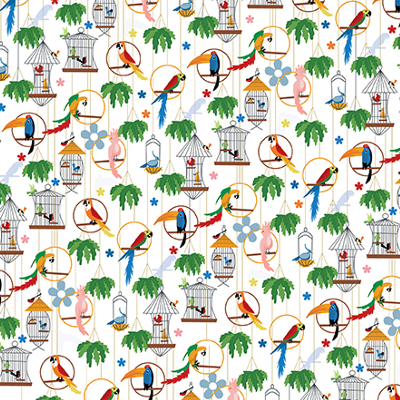 Zoo Adventure Collection Aviary 12 x 12 Double-Sided Scrapbook Paper by Carta Bella