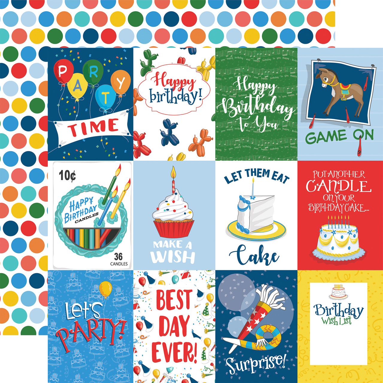 Let's Celebrate Collection 3X4 Journaling Cards 12 x 12 Double-Sided Scrapbook Paper by CartaLet's Celebrate Collection 3X4 Journaling Cards 12 x 12 Double-Sided Scrapbook Paper by Carta Bella Bella