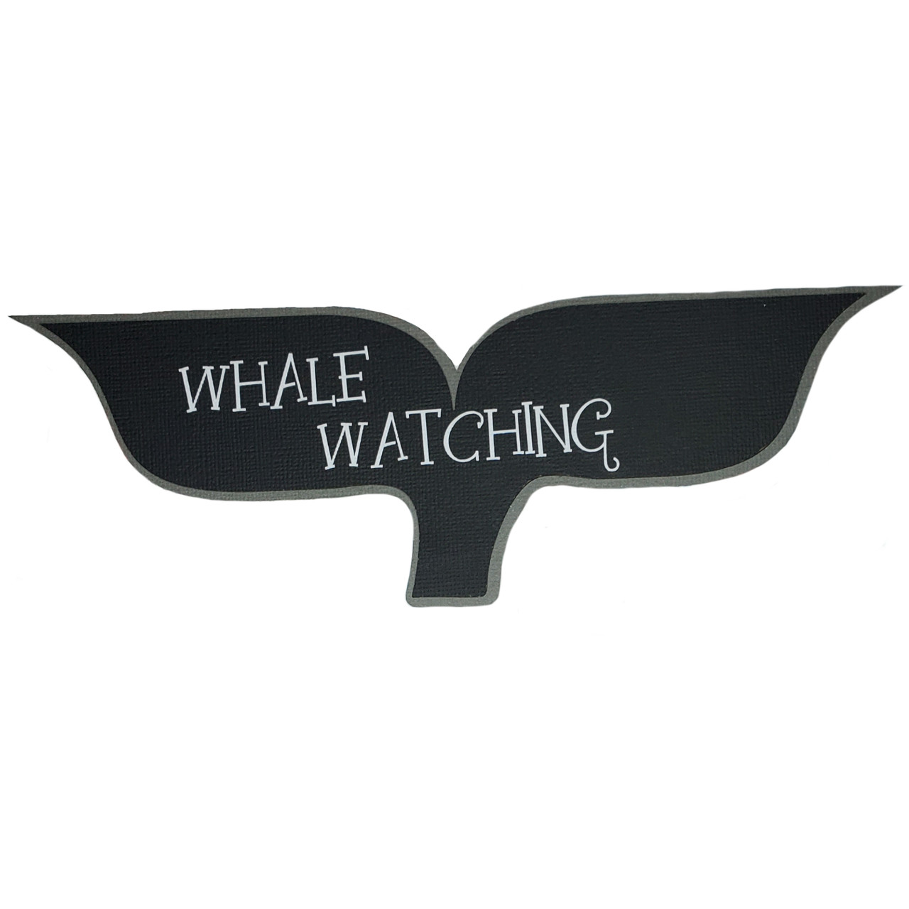 Whale Watching 9.5 x 3 Laser Cut Scrapbook Embellishment by SSC Laser Designs