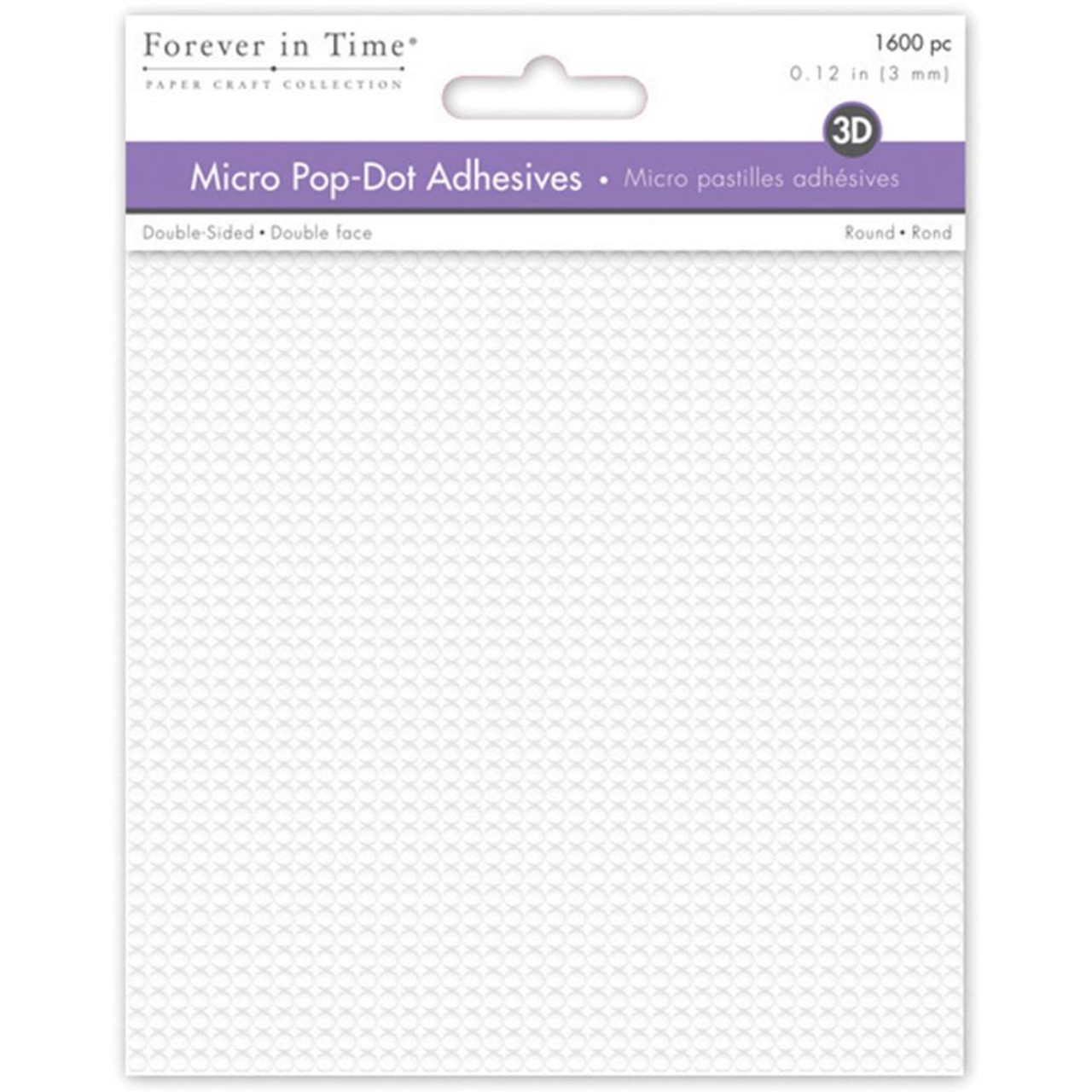 Micro Pop Dots Adhesive by Notions - Pkg. of 1600 - .12 inch