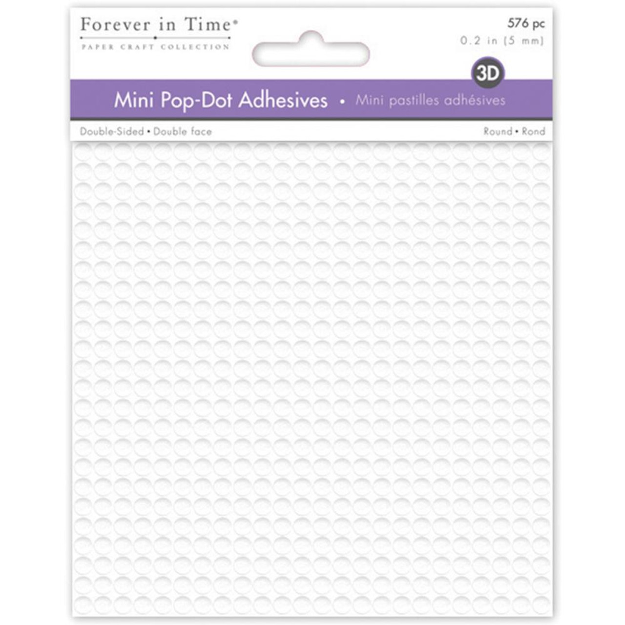 Micro Pop Dots Adhesive by Notions - Pkg. of 576 - .2 inch