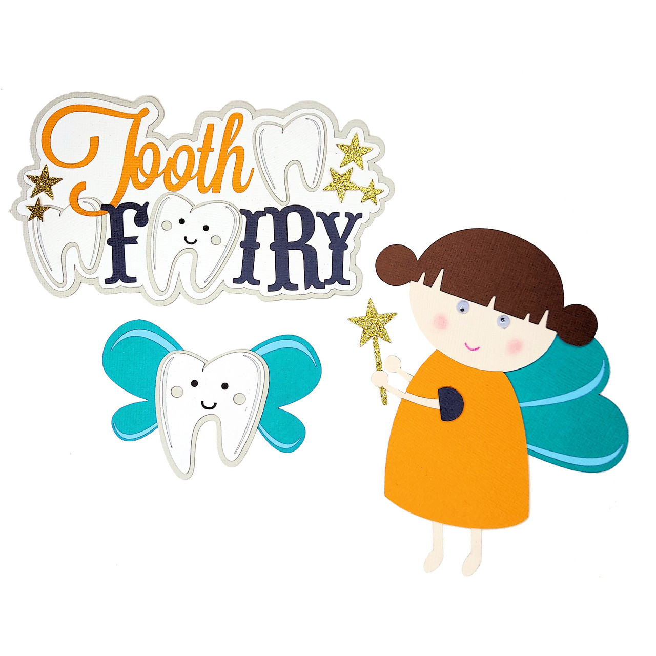 Tooth Fairy 6 x 6 Laser Die Cut Scrapbook Embellishment by SSC Designs (original design by Miss Kate Cuttables)