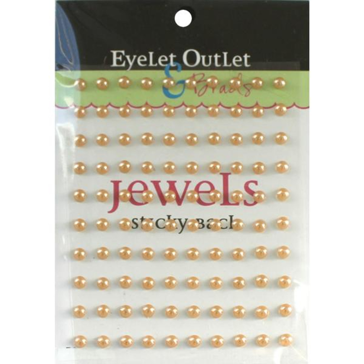 Our Brads Need Friends Collection Pearl Brown Self-Adhesive Pearls by Eyelet Outlet - 100 Pearls