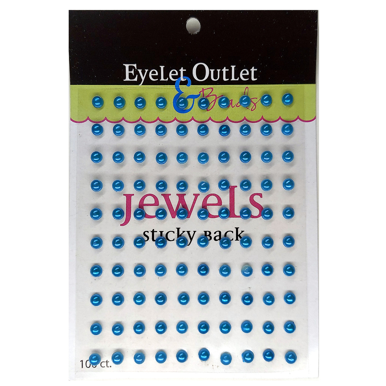 Our Brads Need Friends Collection Pearl Blue Self-Adhesive Pearls by Eyelet Outlet - 100 Pearls