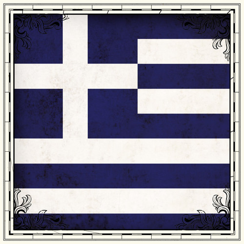 Sightseeing Collection Greece Flag 12 x 12 Scrapbook Paper by Scrapbook Customs