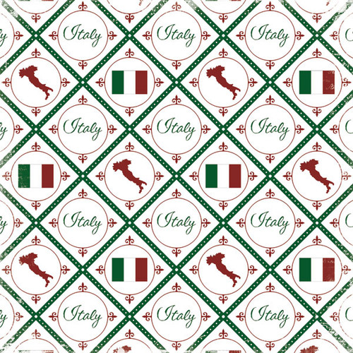 Discover Italy Collection Italy 12 x 12 Scrapbook Paper by Scrapbook Customs