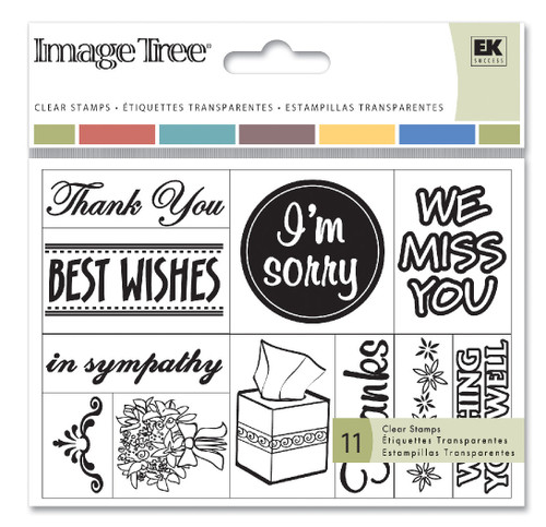 Greetings Acrylic Stamp Set by Image Tree - Set of 11 stamps