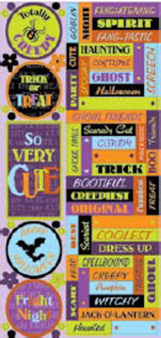 Halloween Fun Collection Embossed Cardstock Work Stickers by Cloud 9 Design