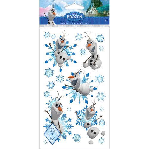 Disney Frozen Collection Olaf 4 x 8 Flat Clear Stickers by EK Success