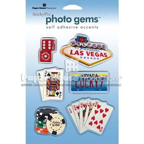 Las Vegas Photo Gem Epoxy Stickers by Paper House Productions