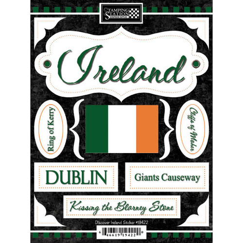 Discover Collection Ireland 6 x 9 Scrapbook Sticker by Scrapbook Customs