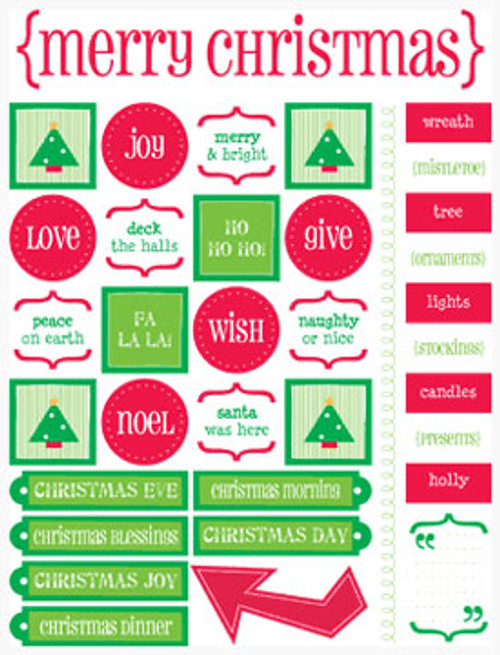 Merry Christmas Live Life Stickers by SRM Press