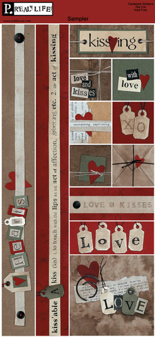 Valentine's Day Cardstock Stickers by Pebbles
