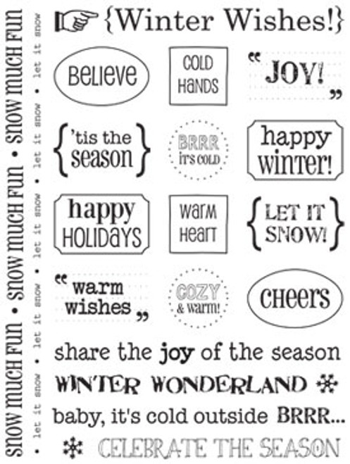 Winter Wishes Sticker Sentiments by SRM Press