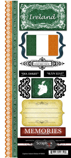 Explore Collection Ireland Cardstock Stickers by Scrapbook Customs