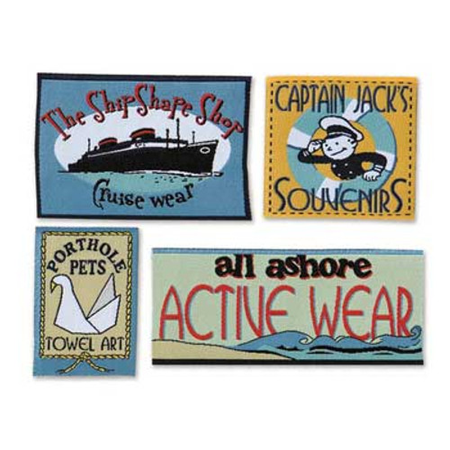 Cruise Self-Adhesive Shirt Labels by Karen Foster Design