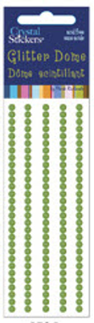 Light Green 3mm Glitter Dome Stickers by Mark Richards USA