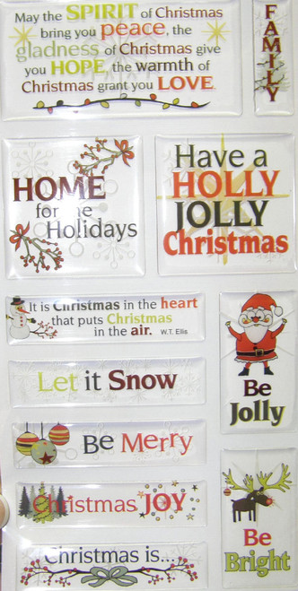 Christmas Is Collection Words & Quotes Epoxy Sticker Sheet