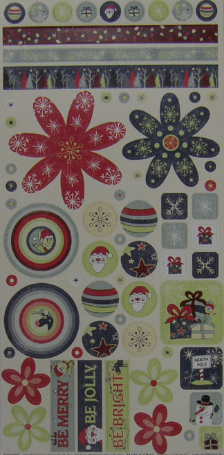 Christmas Is Collection Cardstock Element Sticker Sheet