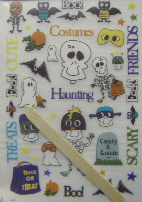 Happy Halloween Collection Rub-On Words & Elements