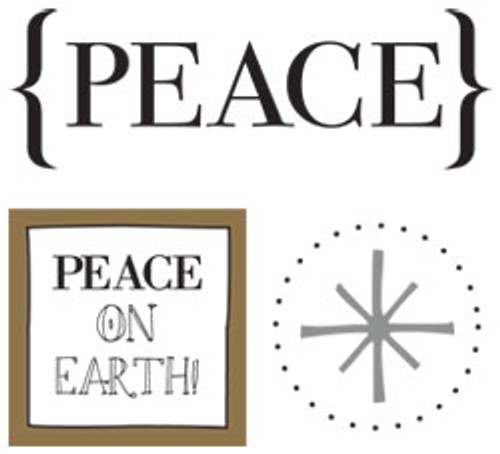 Peace on Earth Quick Card Sticker Set by SRM Press - Pkg. of 2