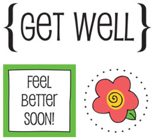 Get Well Quick Cards Sticker Sheet by SRM Press - Pkg. of 2