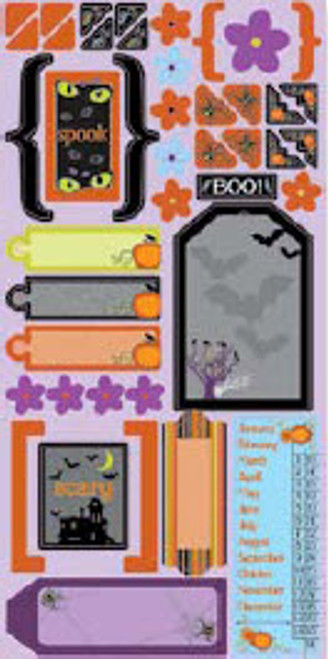 Halloween Fun Collection Gem Cardstock Stickers by Cloud 9 Design