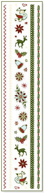 Christmas Joy Collection Elements & Stitch Clear Sparkle Stickers
