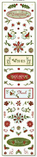 Christmas Joy Collection Clear Sparkle Accent Stickers
