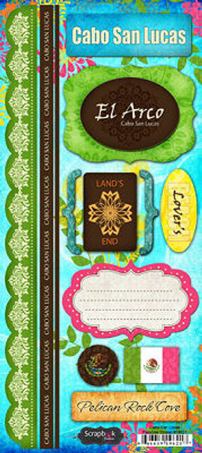 Paradise Collection Cabo San Lucas Cardstock Sticker Sheet by Scrapbook Customs