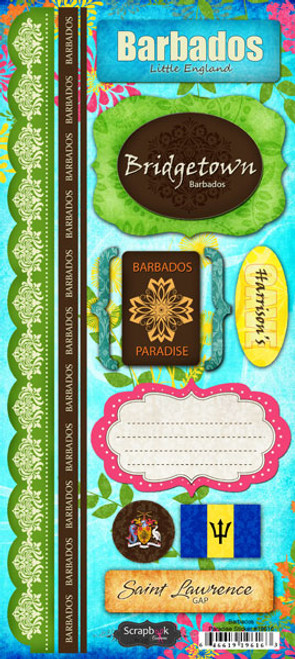 Paradise Collection Barbados 6 x 12 Cardstock Sticker Sheet by Scrapbook Customs