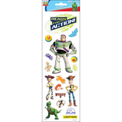 Disney Toy Story Collection Buzz Lightyear & the Gang Ready For Action Clear Scrapbook Sticker Sheet by Sandylion