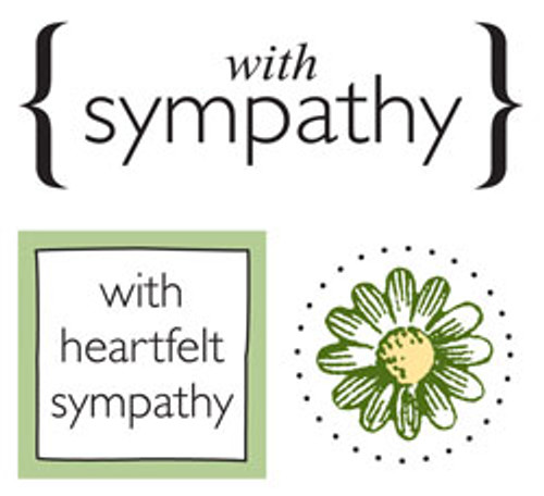 With Sympathy Quick Cards Stickers by SRM Press - Pkg. of 2