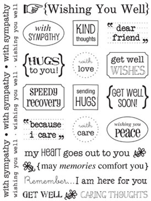 Sticker Sentiments Collection Wishing You Well Sticker Sheet by SRM Press