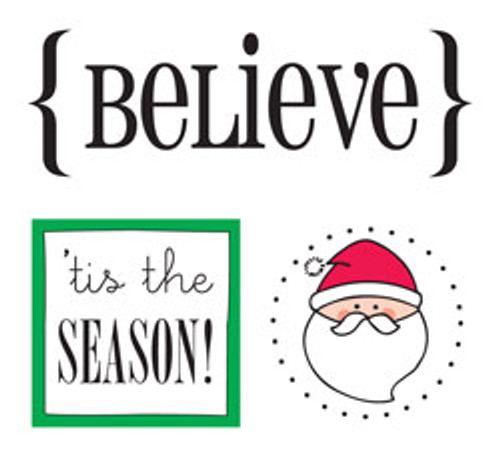 Quick Cards Collection Believe Sticker Sheet - Pkg. of 2